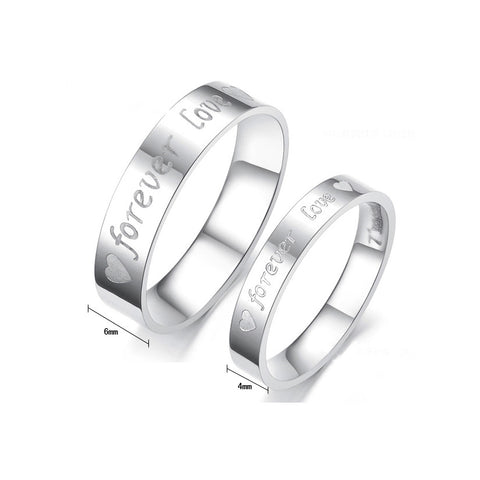 STAINLESS STEEL FOREVER LOVE COUPLE'S RING