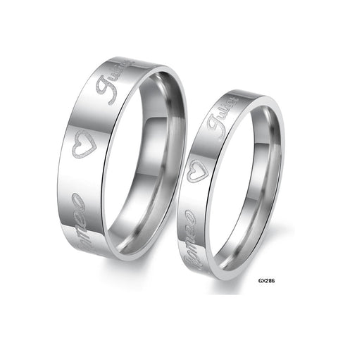 ROMEO JULIET SILVER COUPLE'S RING