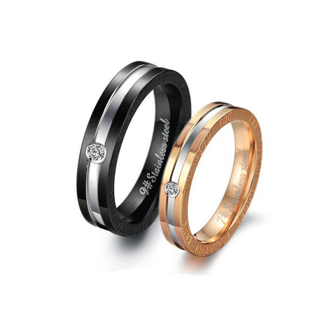 I AM WITH YOU STAINLESS STEEL COUPLE'S RING