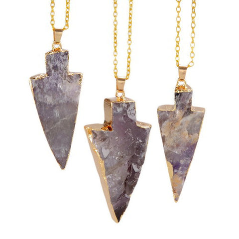 ARROW NATURAL STONE PENDANT NECKLACE
