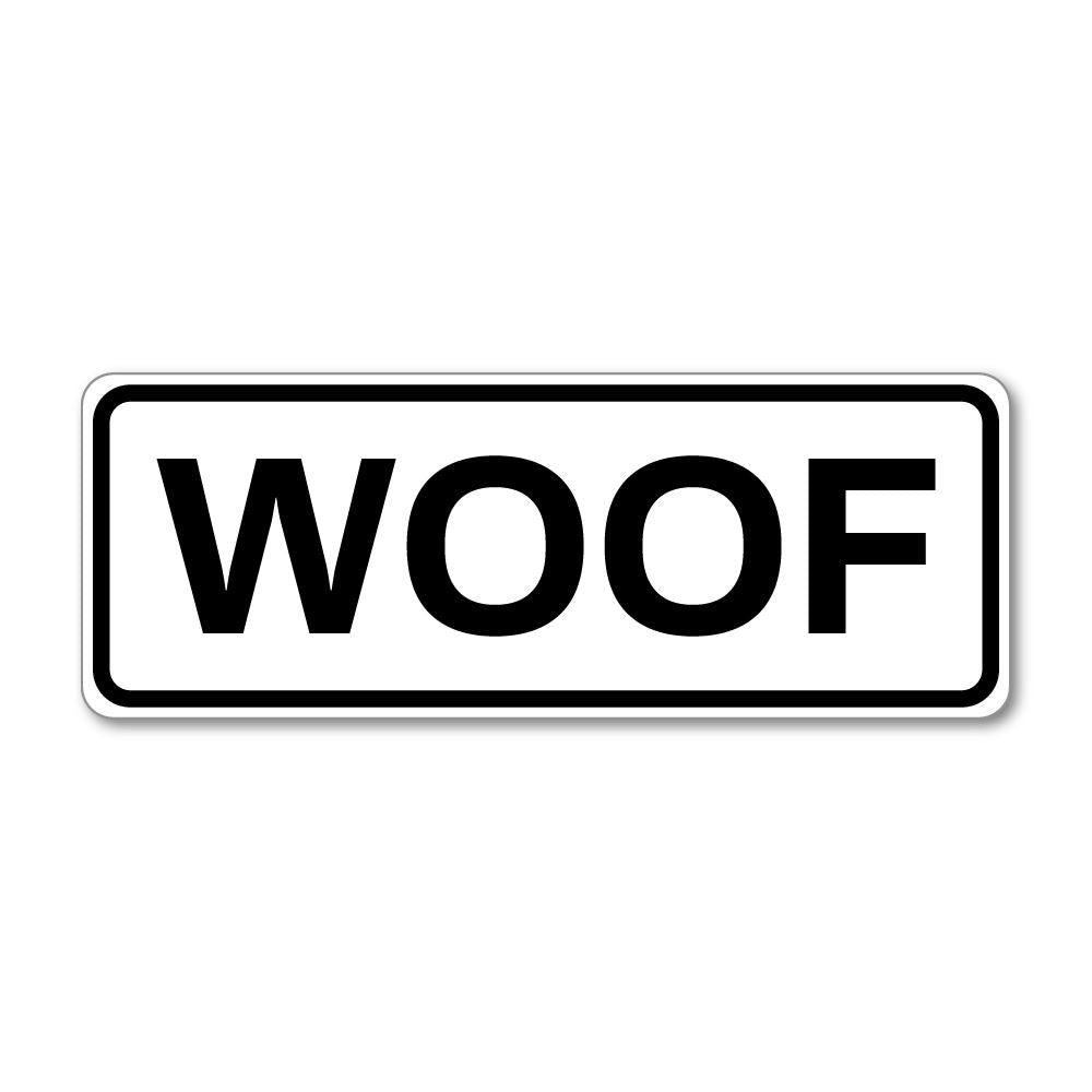 Woof Sticker Decal