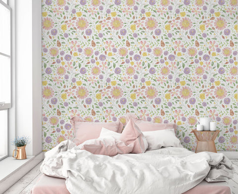 Cecilia Flowers Wall Mural