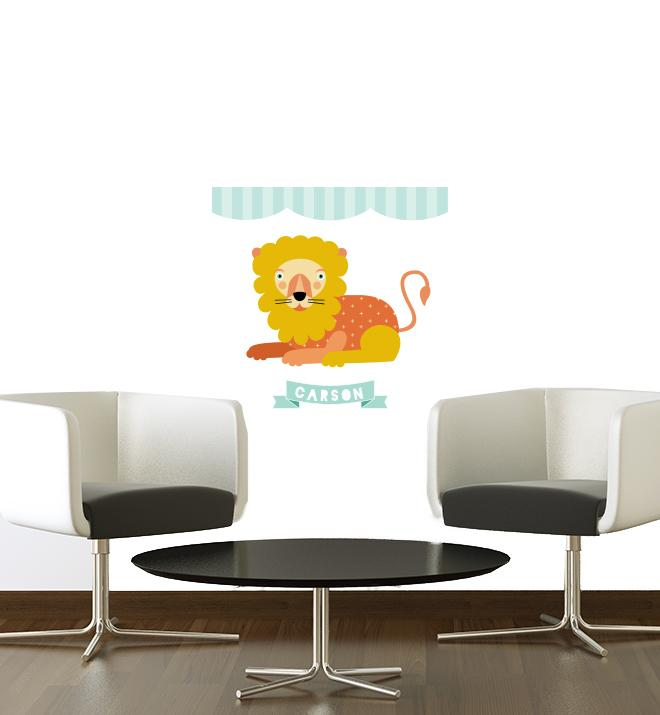Carson The Circus Lion Wall Sticker