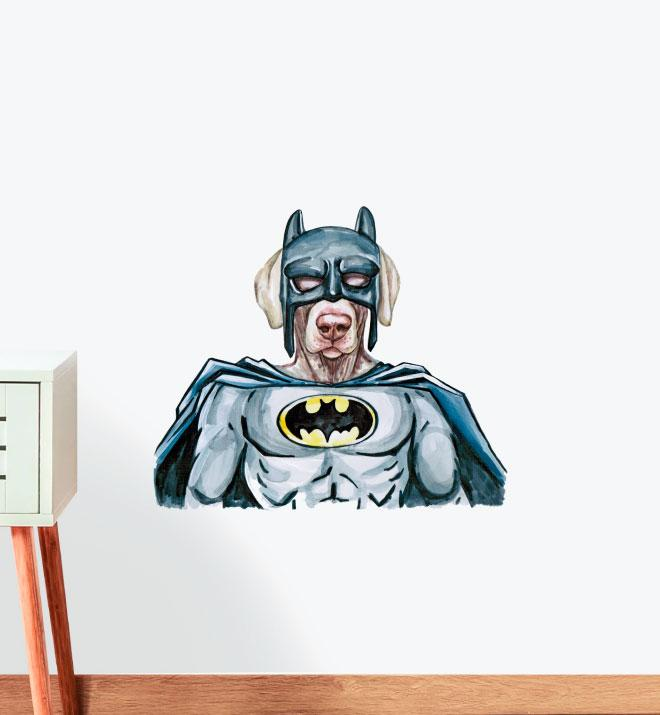 Batman Labrador Dog Wall Sticker