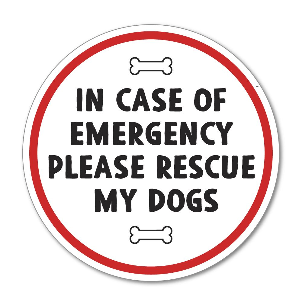 Rescue My Dogs Sticker Decal