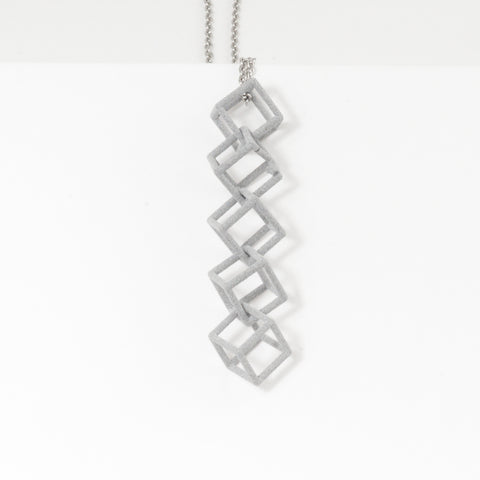 Interlocking Cube Pendant | Necklace - Alminty3D