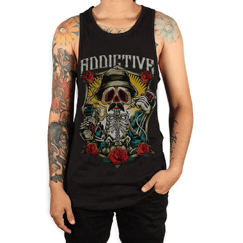 Drinking Skeleton Tank by Addictive Clothing