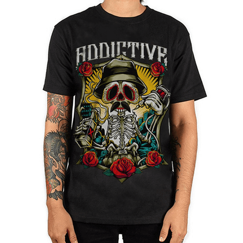 Drinking Skeleton Tee by Addictive Clothing