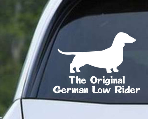 Dachshund The Original German Low Rider Weiner Dog Die Cut Vinyl Decal Sticker