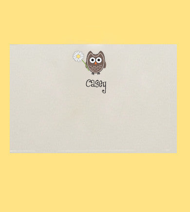 """Flower Power"" Hoot Note Card"
