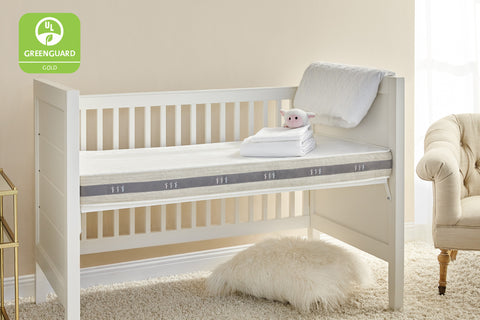 two stage natural crib mattress made by Brentwood Home