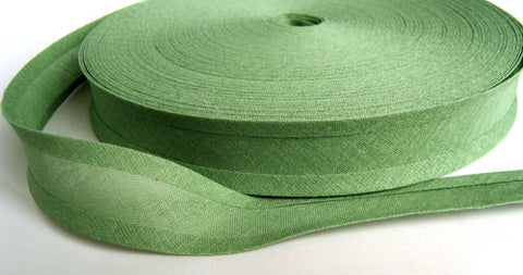 BB331 25mm Plate Green 100% Cotton Bias Binding Tape - Ribbonmoon