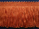 FT795 55mm Golden Walnut Brown Dense Looped Dress Fringe - Ribbonmoon