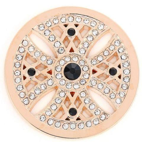 Rose Gold and Black Crystal Celtic Coin