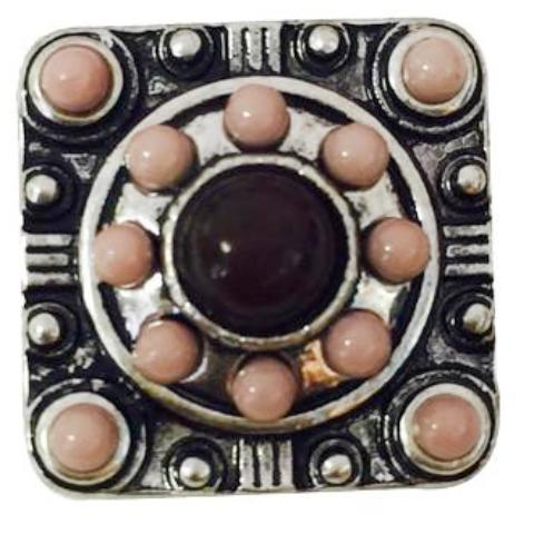Square Rose Clay Beads Snap