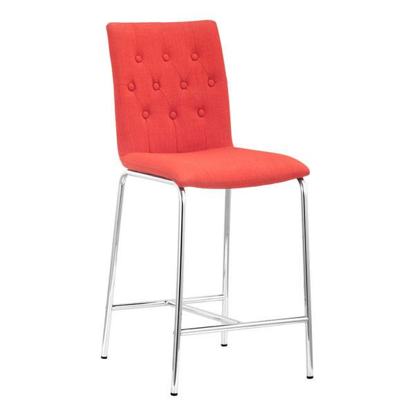Zuo Uppsala Counter Chair Tangerine
