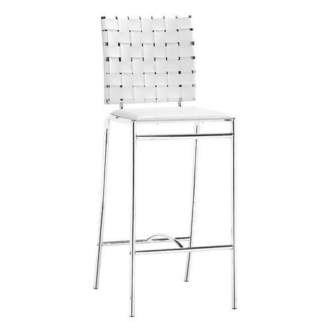 Criss Cross Counter Chair White (Set of 2)
