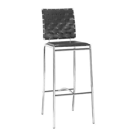 Criss Cross Barstool Black (Set of 2)