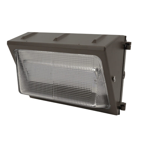 "15""w LED Commercial Wall Pack, 50W, 5,800 Lumens, 5000K, Bronze Finish, 50,000 Hours"