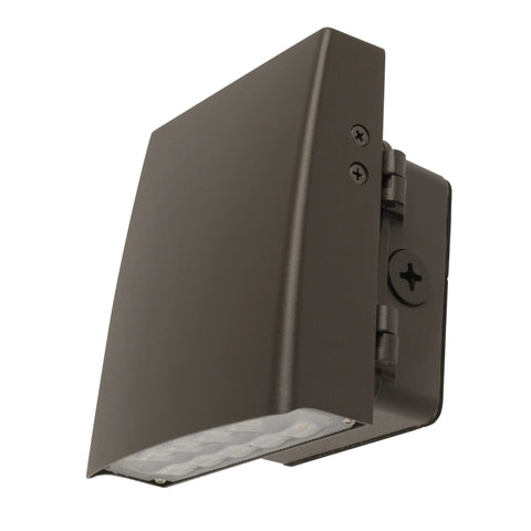 "6""w LED Bronze Adjustable Wall Pack - 5000k"