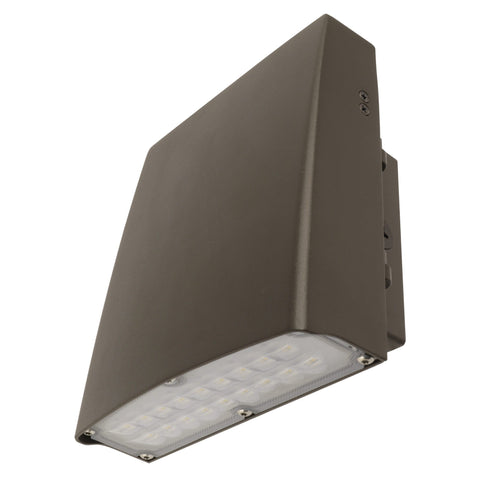 "9""w LED Bronze Adjustable Wall Pack, 30W, 3,300 Lumens, 5000k, 50,000 Hours"