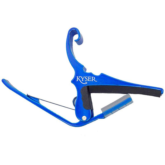 Kyser KG6UA Quick-Change Guitar Capo for 6 string Guitar - Blue - Jakes Main Street Music