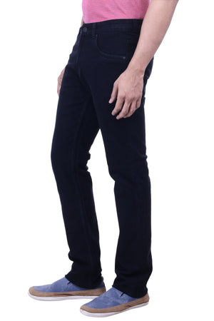 Hoffmen Men's Slim Fit Heavy Stretch Black Jeans BSG3903