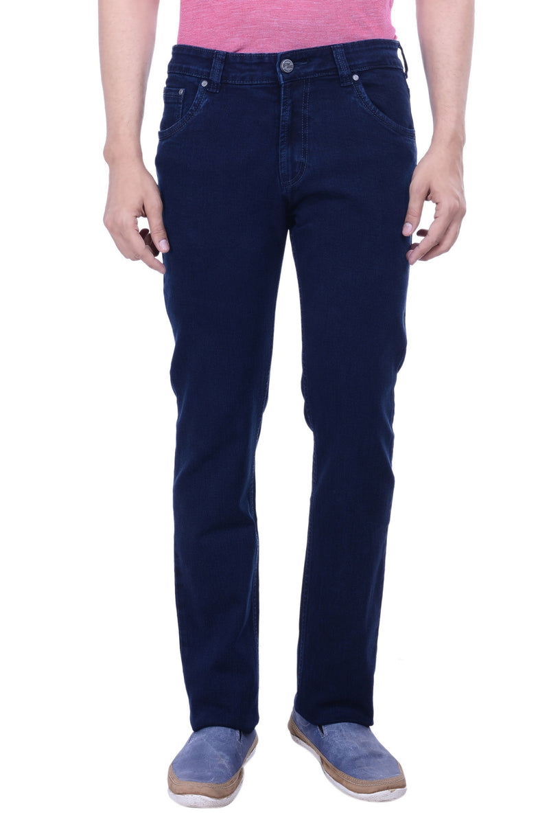 Hoffmen Men's Slim Fit Heavy Stretch Sapphire Blue Jeans BSG3909