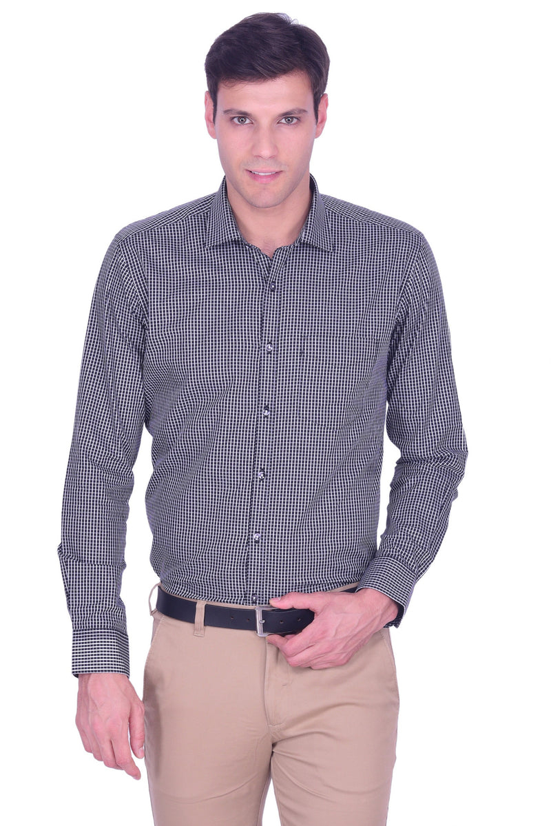 Hoffmen Men's Checkered Formal Shirt HS5155
