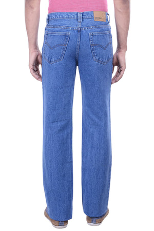 Hoffmen Men's Regular Fit Heavy Rugged Cowboy Semi Bleach Jeans EDG2902