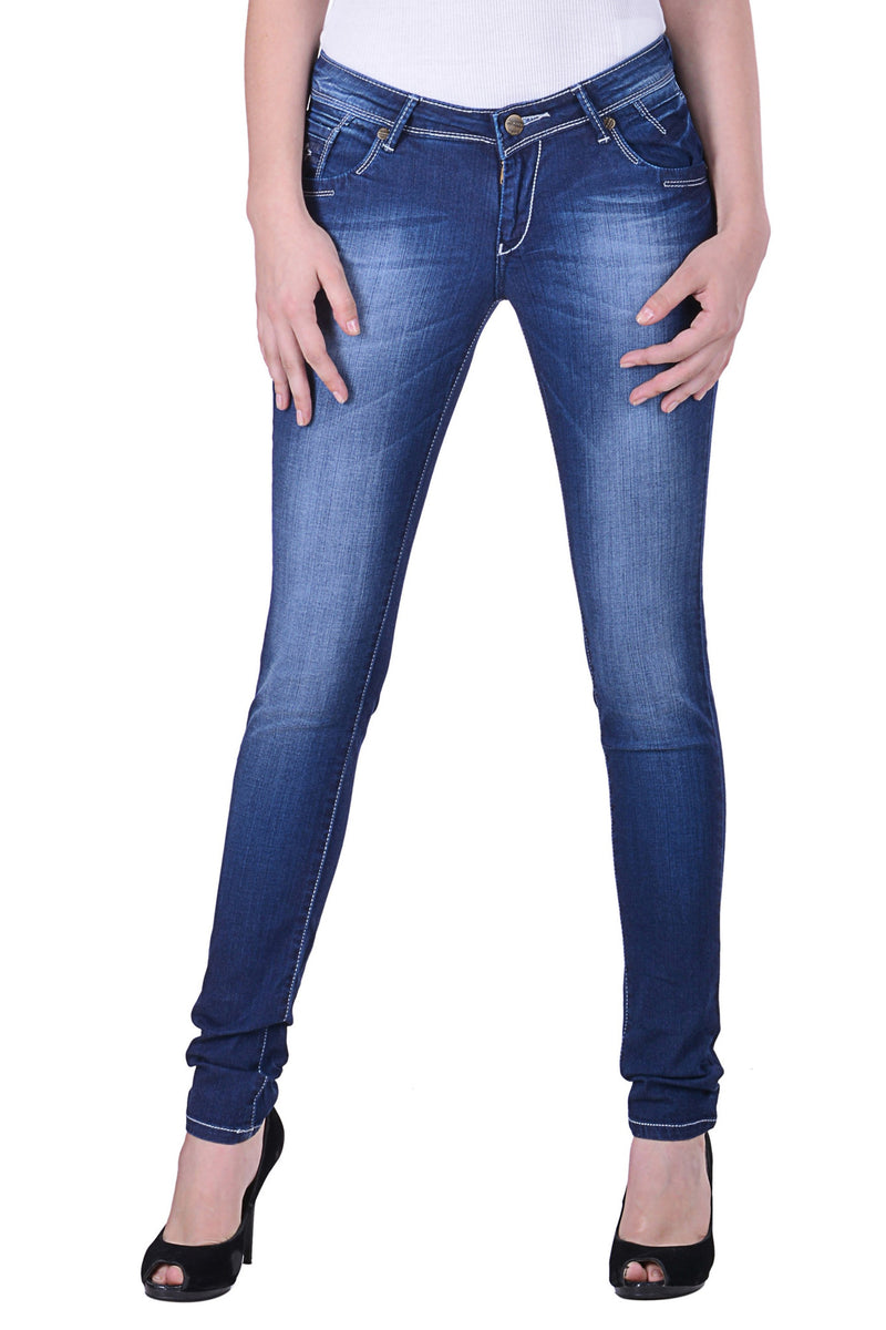 Hoffmen Slim Fit Women's Blue Jeans  MSB1211