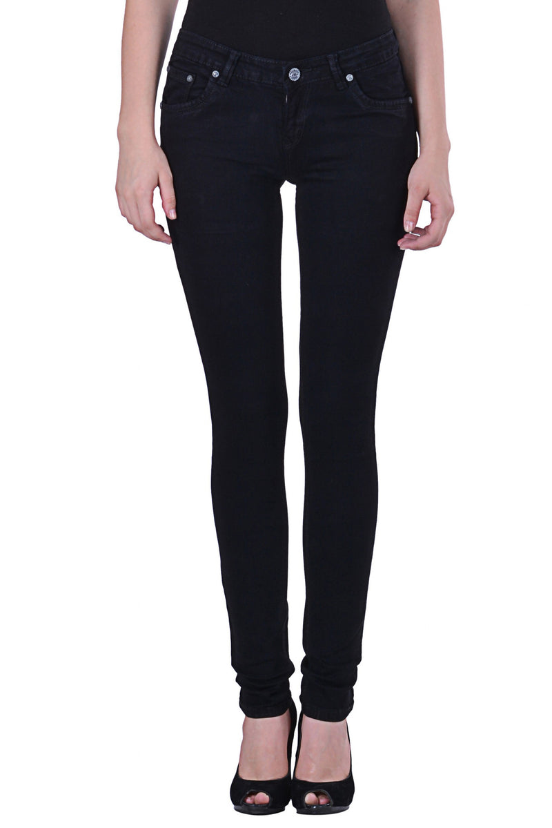 Hoffmen Slim Fit Women's Black Chino Stretch Jeans MSGC5903