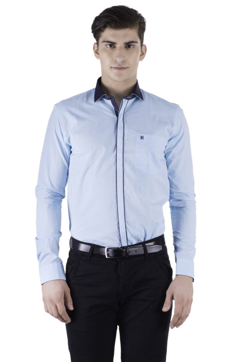 Hoffmen Men's Self Design Party Shirt PP1040