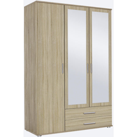 ASSEMBLY INCLUDED Rauch 'Rasant' 3 or 4 Door Wardrobe, Sonoma Oak. German Bedroom Furniture., [product_variation] - Freedom Homestore