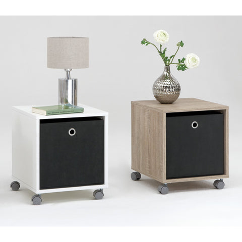 'Elisa' Basic Bedside / End Table with Removable Mega Canvas Box., [product_variation] - Freedom Homestore