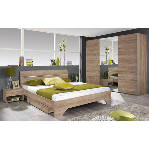 ASSEMBLY INCLUDED Rauch 'Fellbach' German Made Bedroom Furniture. San Remo Oak