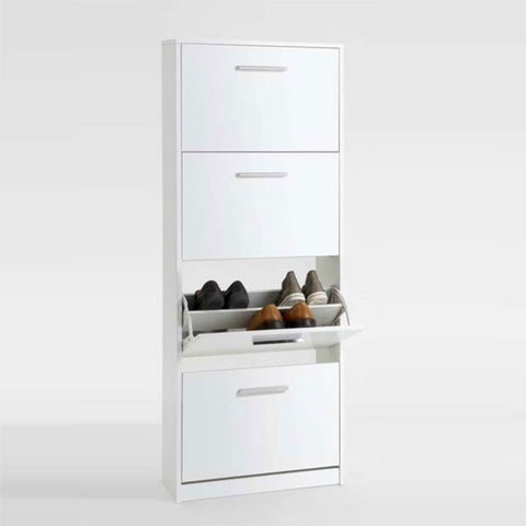 "ASSEMBLY INCLUDED ""Chic"" High Gloss White Shoe Storage Cabinet Solutions. Two Sizes., [product_variation] - Freedom Homestore"