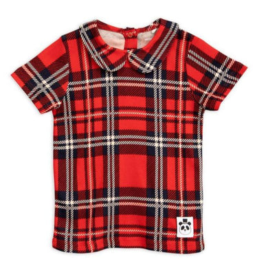 Mini Rodini Check Collared Tee on DLK | designlifekids.com