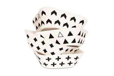 Young Lux Bamboo Scandinavian Print Bowls on Design Life Kids