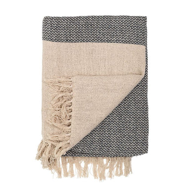 Bloomingville Fringe Cotton Knit Throw Blanket on Design Life Kids