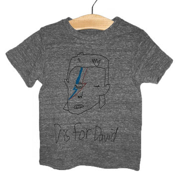 Anchors and Asteroids D is for David Bowie Tee Shirt on Design Life Kids