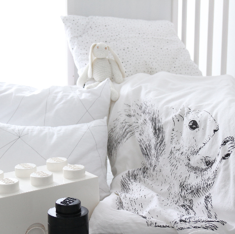 OOH NOO NUTTY SQUIRREL TODDLER DUVET ON DLK