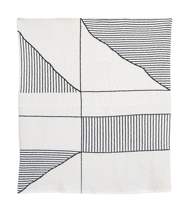Bloomingville Geometric Striped Blanket on Design Life Kids