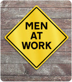 Men At Work Caution Sign