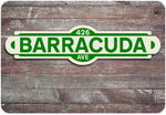 Barracuda Street Sign