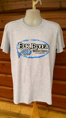 Elk River Custom Rods Short Sleeve Lightweight T-Shirt Heather Grey