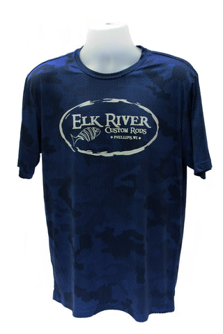 Elk River Custom Rods Camohex Short Sleeve T-Shirt True Royal