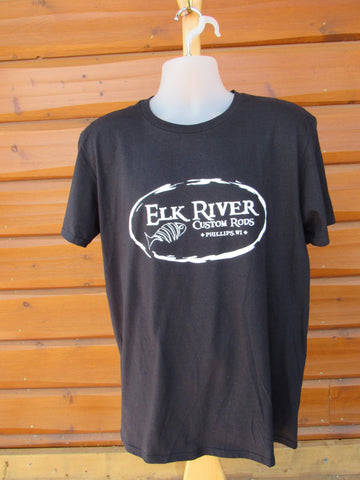 Elk River Custom Rods Short Sleeve Lightweight T-Shirt Black