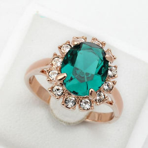 Emerald Ring Rose Gold PlatedRing5.5