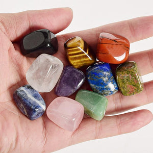 10 Pieces/Box Natural Tumbled Crystal Gemstonesraw stone